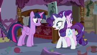 "Rarity ""overheard those two at the cafe"" S7E14"