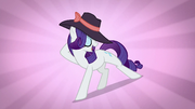 Rarity being fabulous while wearing a hat S5E15