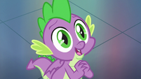 Spike looking excitedly at Sludge S8E24