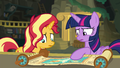 Sunset and Twilight baffled by the mystery EGFF.png