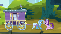 Trixie and Starlight trotting together S8E19