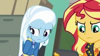Trixie sympathizing with Wallflower Blush EGFF