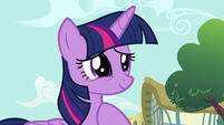Twilight happy that ponies bought her journal S7E14