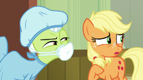 Young Applejack stammering S6E23