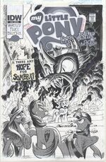 Comic issue 35 cover RI colorless