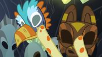 Fluttershy grabbing healer's masks S7E20