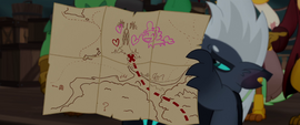 Grubber reveals the ponies' map to Mt. Aris MLPTM