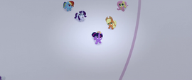 Main five see giant cake falling from the sky MLPTM
