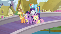 "Mane Six with ""oh, well"" expressions S5E19"
