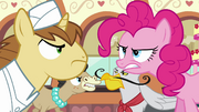 Pinkie Pie and bakers looking at each other angrily S2E24