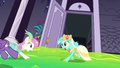 Ponies in a ballroom panic S5E7.png