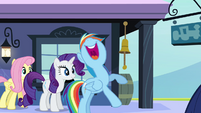 Rainbow Dash excited -that'll rock!- S03E12