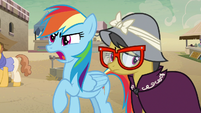 Rainbow Dash refuting the Daring Do haters S7E18