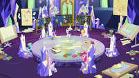 Rarity taking charge of the heist mission S9E4