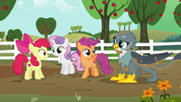 Scootaloo --meet us at the Crusaders' clubhouse!-- S6E19