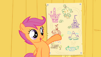 Scootaloo showing off her map of Ponyville S1E18