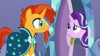 Starlight saying goodnight to Sunburst S7E24