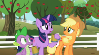 Twilight Applejack worried S02E15
