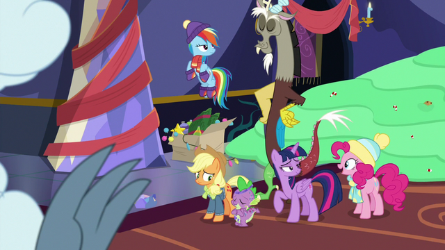 File:Twilight and friends proud of Fluttershy MLPBGE.png