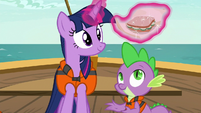 Twilight unwraps a cucumber sandwich S6E22