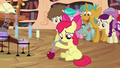 Apple Bloom pouring potion on apple S4E15.png