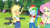 Applejack and Rainbow Dash are tent buddies EG4