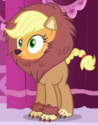 Applejack lion costume ID S5E21