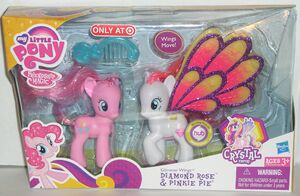 Glimmer Wings Diamond Rose and Pinkie Pie MIB