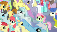 Pegasi fly up from the crowd S4E24