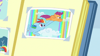 Photo of Rainbow and Scootaloo in scrapbook S7E7