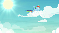 Rainbow Dash flying at high speed S8E20
