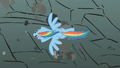 Rainbow Dash soars past the rocks S01E07.png