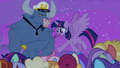 Twilight Sparkle addresses the cruise attendees S7E22.png