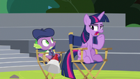 Twilight Sparkle clearing her throat S8E7