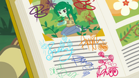 Wallflower's page with the girls' signatures EGFF