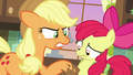 AJ prodding Apple Bloom with a muddy hoof S7E13.png