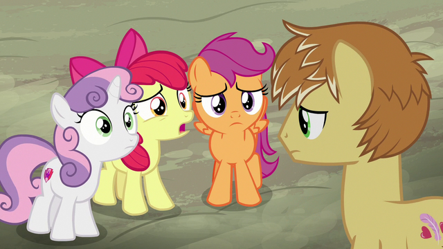 "File:Apple Bloom ""you're askin' us for advice?"" S7E8.png"