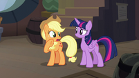 "Applejack ""why do the Hippogriffs need ships"" S8E21"