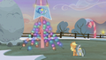 Applejack and Marble stand before the flag S5E20.png