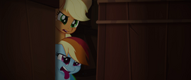 Applejack and Rainbow look disgusted MLPTM