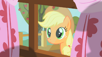Applejack peering through window 2 S01E18