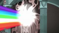 Beam of rainbow light strikes Well of Shade wall S7E26