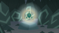 Bewitching Bell glowing in the cave S9E8