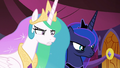 Celestia and Luna glaring at Starlight Glimmer S7E10.png