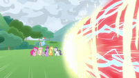 Cozy's magic fires at the Mane Six S9E25