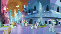 Crystal Ponies enslaved by King Sombra S9E1
