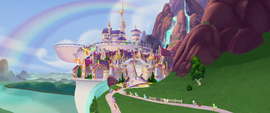 Distance shot of Canterlot MLPTM
