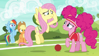 Fluttershy and Pinkie overwhelmed by training S6E18