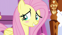 Fluttershy blushing with embarrassment S6E11