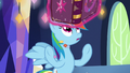 Journal levitates out of Rainbow's hooves S7E14.png